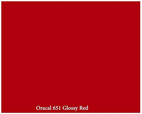 red-glossy-12inch-x-10ft-roll-of-oracal-651-permanent-adhesive-backed-vinyl-for-craft-cutters-punche
