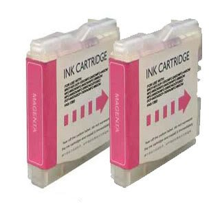 2x Brother LC970M / LC1000M (LC51) - Magenta Kompatible Drucker-Tintenpatrone f&#252;r Brother DCP-130C DCP-135C DCP-150C DCP-153C DCP-157C DCP-330C DCP-350C DCP-353C DCP-357C DCP-540CN DCP-560CN DCP-750CN DCP-750CW DCP-770CW FAX-1860C FAX-1960C FAX-2480C MFC-260C MFC-885CW MFC-235C MFC-240C MFC-3360C MFC-440CN MFC-465CN MFC-5460CN MFC-5860CN MFC-660CN MFC-665CW MFC-680CN MFC-685CW MFC-845CW