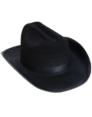 Child's Dozen Country Black Cowboy Cow Boy Felt Hat Costume Accessory