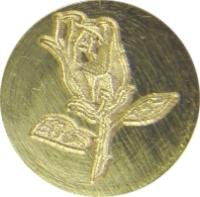 "Rose / Rosebud 3/4"" diameter brass Wax Seal Stamp"