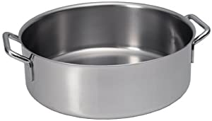 Sitram Catering 10.4-Quart Commercial Stainless Steel Rondeau Casserole