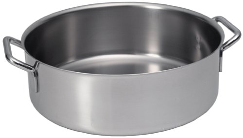 Sitram Catering 11.4-Quart Commercial Stainless Steel Rondeau Casserole