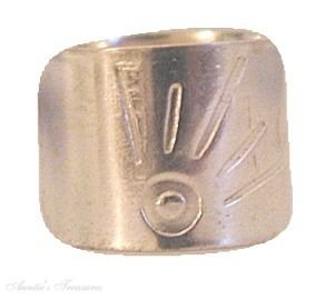 Sterling Silver Nonpiercing Wide Flat Sun Burst Band Ear Cuff