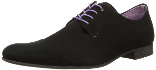 BKR Men's Rex Lace-Up Flats Black Noir (Ante Black) 7 (41 EU)