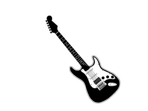 Vinyl Wall Decal Electric Guitar Art Design Sticker
