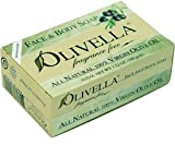 Olivella Face and Body Soap, Fragrance Free, All-natural 100 Percent Virgin Olive Oil From Italy, 3.52-oz Bars (Pack of 12)