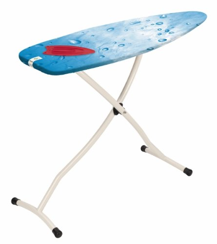Brabantia Ironing Board with Silicone Heat Pad, Size D, 135 x 45cm, 35mm Ivory Frame, Ice Water Cover