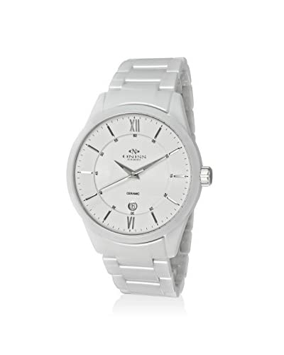 Oniss Men's ON438-MWT White High Tech Ceramic Watch