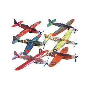 FOAM WWII ASSORTED GLIDERS (BOX of 12 different planes 48 in total) - 1