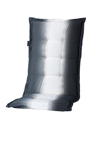 8 cm luxus hochlehner auflage c 335 schwarz wei grau. Black Bedroom Furniture Sets. Home Design Ideas