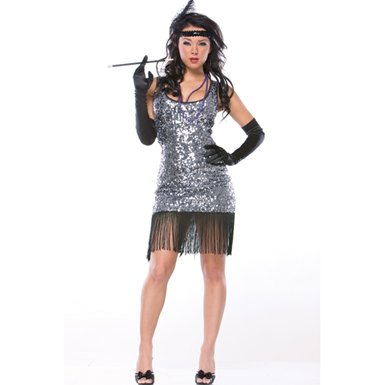 Sexy Jazz Flapper 20's Decade Halloween Costumes