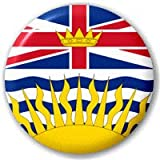 British Columbia Canada Province Flag 25mm Pin Button Badge