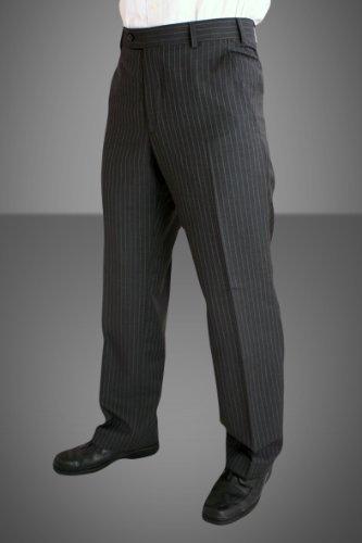 Douglas Pure wool Pinstripe trousers 44inch Waist 31inch, Grey Pinstripe (06)
