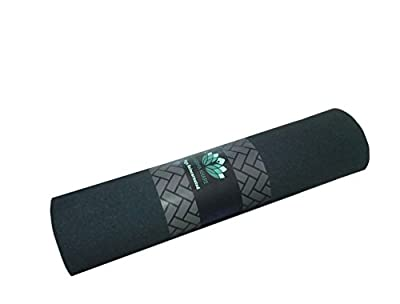 Kharma Khare Legacy Reincarnated Non Slip Eco Friendly Yoga Mat (7 Mm - Black)