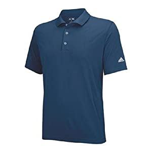 adidas Golf Men's Puremotion Solid Jersey Polo, Midnight/White, Large