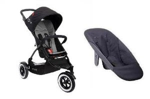 Phil And Teds Dot Stroller With Face To Face Seat (Flint)