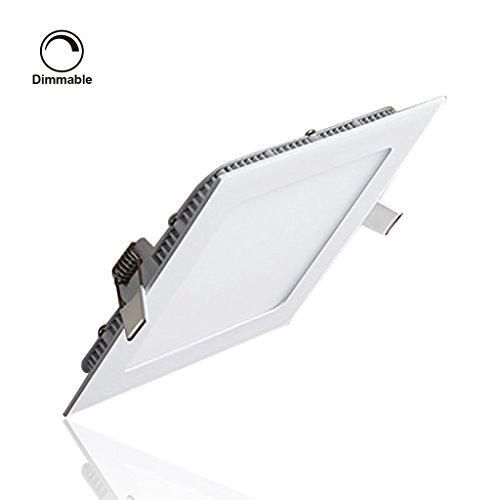 S&G® LED Ceiling Panels Dimmable, Ultrathin Suqare LED Panel Light 12