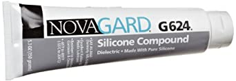 Novagard G624 Dielectric Silicone Grease Compound, Meets SAE AS-8660, 5.3 oz Tube