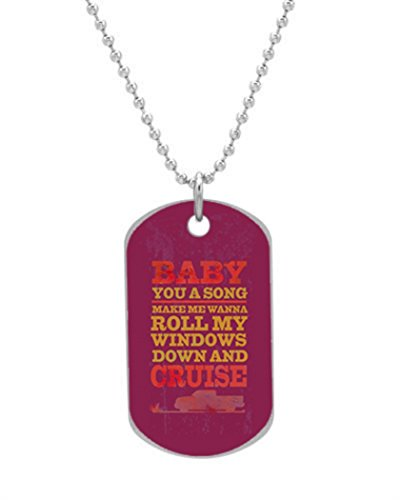 Baby You a Song Custom Oval Dog Tag (Bigger Size) Pet Tag Neck Chain Key Chain Aluminum Dog Tag Dimensions 1.3X2.2X0.1 inches ,Comes with 30 inches beads chain тетрадь на скрепке printio i want to write you a song one direction mitam