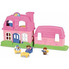 Fisher-Price Little People Happy Sounds Home - Pink - 1