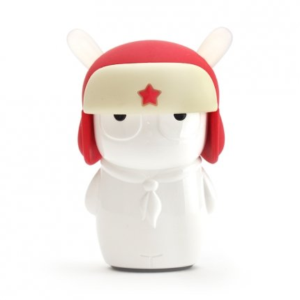 Emie Mitu 5200Mah Lithium Cell Electrical Power Bank For All Cellphones,Tablets-Retail Packaging-Red Hat Lei Feng Cartoon Rabbit-Power Bank Without Charging Base