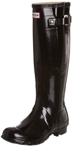 Hunter Women's Original Adjustable Gloss Black Wellington Boot W24513 3 UK