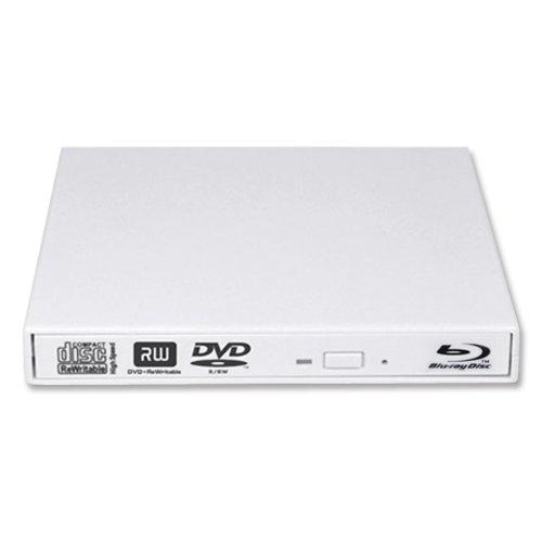 Salcar® Externes Blu-ray Combo-Laufwerk (Blu-Ray + DVD-Brenner) für alle Windows Notebooks / Netbooks / PCs mit USB2.0 Anschluss (Weiß)