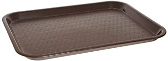 "Carlisle CT1014-69 13.87"" Length x 10.75"" Width x 0.79"" Height, Chocolate Color, Polypropylene Cafe Standard Tray, Pack of 24"