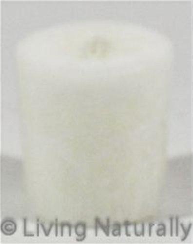 Candle, Unscented Palm Votives, White 12X2 Oz