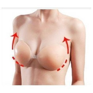 Self Adhesive Silicone Nu Color Backless Strapless Bra (Size D)