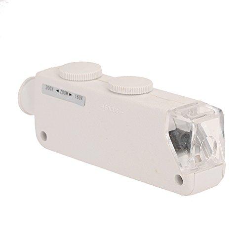 160X- 200X Zoom Led Mini Pocket Microscope Magnifier Mg10081-1A