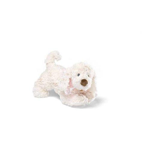 """Gund Auggie Doggie 6"""" Beige Plush With Pink Ribbon front-927582"""