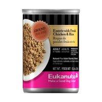 Eukanuba Ground Entree with Fresh Chicken & Rice - 12x13.2oz