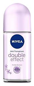 Nivea Deo Roll-on Double Effect Violet Senses, 3er Pack (3 x 50 ml)