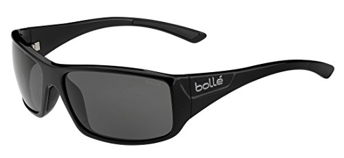 Bolle Kingsnake Sunglass with Polarized TNS Oleo AF Lens, Shiny Black
