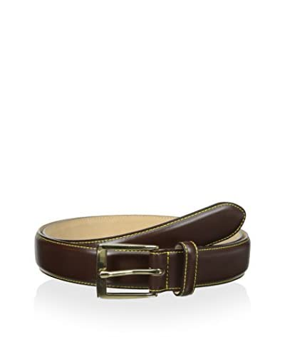 J. McLaughlin Men's Leather Belt with Contrast Stitching
