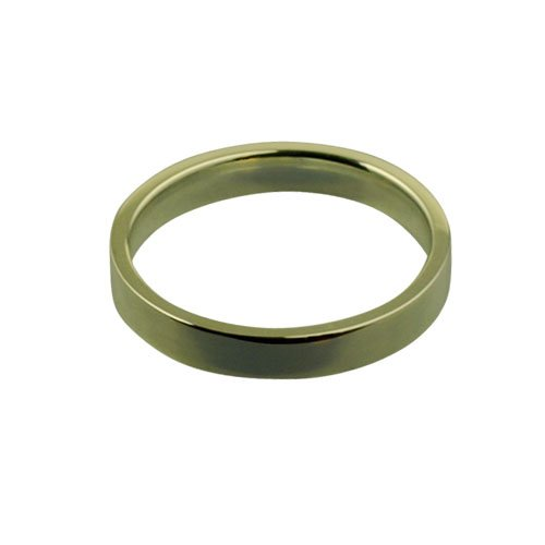 9ct Gold 3mm plain Flat Court shaped Wedding Ring Sizes I to P