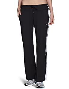 adidas Damen lange Trainingshose Essentials 3-Stripes Knit Pants, Black/White, M, X21269