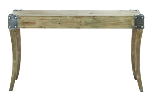 Cheap Console Table and Metal Bolts on Corners with Curved Legs (B009D4YJ38)