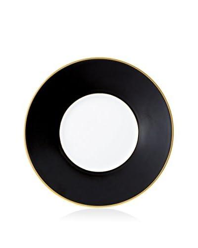 Haviland Color Block Dessert Plate, Gold/Black