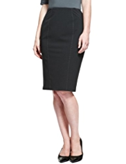 M&S Collection Panelled Contrast Stitched Skirt