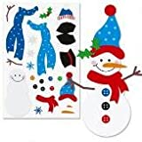 Build Your Own Snowman Sticker Sheets (Set of 12)