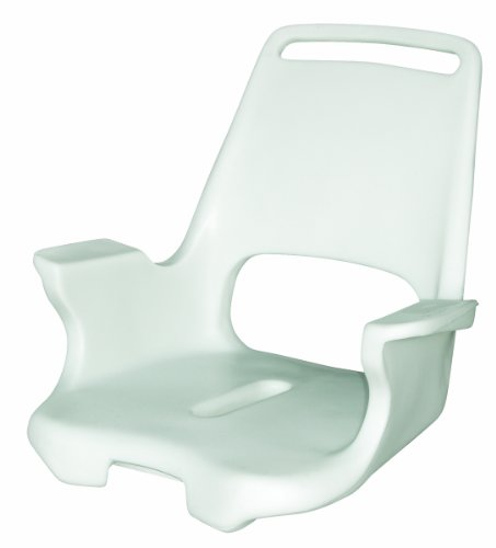 Wise Rotomolded Deluxe Captains Chair Shell and Universal Mounting Plate, White