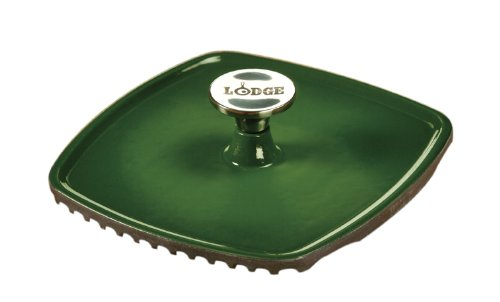 Lodge Color ECPP53 Enameled Cast Iron Square Panini Press, Emerald Green (Lodge Cast Iron Green compare prices)