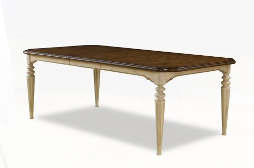Provenance Rectangular Dining Table by A.R.T. Furniture - English Toffee top / Linen Base (76220-2617)