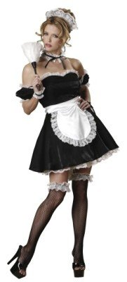 Deluxe Sexy French Maid Costume - Oui Oui
