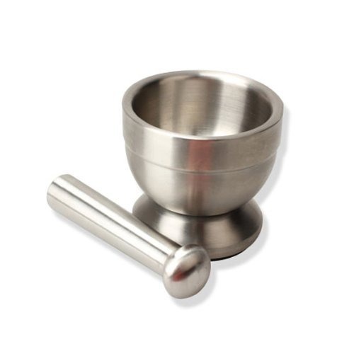 FOME Mortar and Pestle,Stainless Steel+FOME GIFT