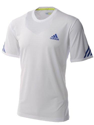Adidas AdiZero Mens Wimby Tennis T Shirt - White - O05410