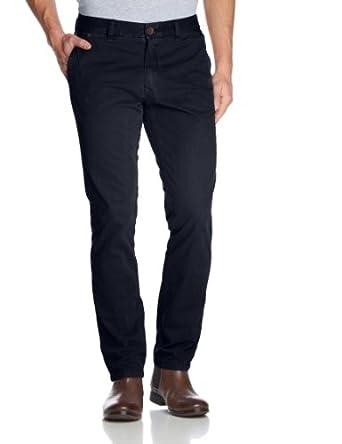 Hilfiger Denim - Freddy - Pantalon - Chino - Uni - Homme - Bleu (Peacoat) - FR : W33/L34 (Taille fabricant : 33/34)