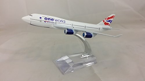 Die-Cast Model Plane , Boeing 747, 16CM (1 : 400 Scale Model) Lots of Airlines to Choose From (BA, Thai, Qatar, Saudi, UPS) (British Airways) by Minicky-plane (Qatar Airways Model compare prices)
